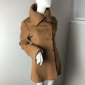 Mackage Jackets & Coats - Mackage Camel PeaCoat Oversized Collar L